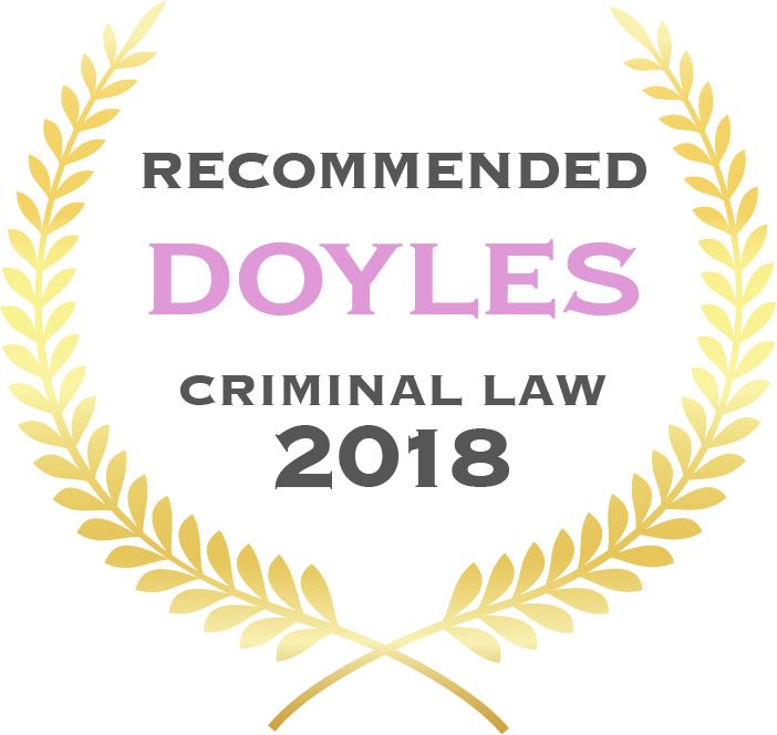Kate King - Doyles Criminal Law 2018 - Recommended